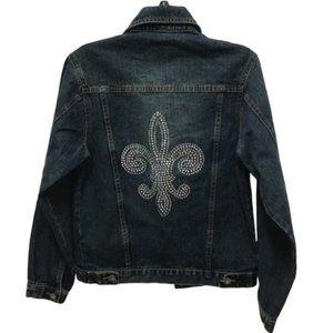 Katydid Blue Jean Embellished Denim Jacket